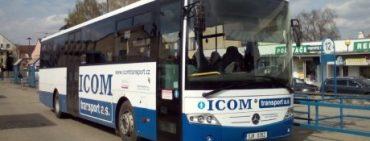 Nově zřízená autobusová zastávka Divišov – Vrcha.